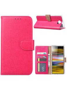 Ntech Ntech Portemonnee hoesje met Pasjesruimte voor Sony Xperia 10 - Roze
