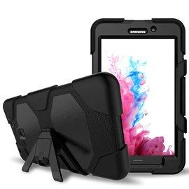 Ntech Ntech Samsung Galaxy Tab E 9.6 Inch T560 / T561 Extreme Armor hoesje met standaard & 3 lagen shockproof Case-Zwart