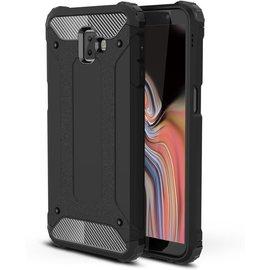 GSM- hoesje Armor Hybrid Samsung Galaxy J6 Plus Hoesje - Zwart