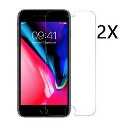 Ntech Ntech 2 Stuks Screenprotector Tempered Glass Glazen Gehard Screen Protector 2.5D 9H (0.3mm) - Apple iPhone 8+/7+