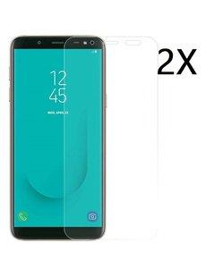 Ntech Ntech 2 Stuks Screenprotector Tempered Glass Glazen - Samsung Galaxy J6 (2018)