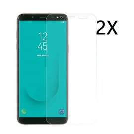 Ntech Ntech 2 Stuks Screenprotector Tempered Glass Glazen Gehard Screen Protector 2.5D 9H (0.3mm) - Samsung Galaxy J6 (2018)
