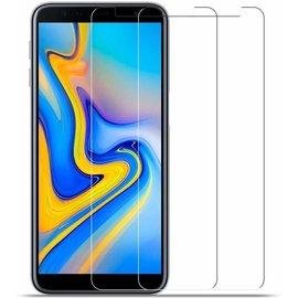 Ntech Ntech 2 Stuks Screenprotector Tempered Glass Glazen Gehard Screen Protector 2.5D 9H (0.3mm) - Samsung Galaxy J6+ (Plus) 2018