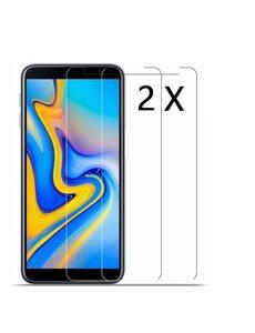 Ntech Ntech 2 Stuks Screenprotector Tempered Glass Glazen - Samsung Galaxy J4+(Plus) 2018