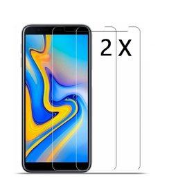 Ntech Ntech 2 Stuks Screenprotector Tempered Glass Glazen Gehard Screen Protector 2.5D 9H (0.3mm) - Samsung Galaxy J4+(Plus) 2018