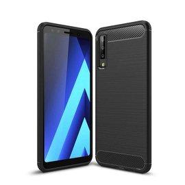 Ntech Ntech Rugged Armor Hoesje voor Samsung Galaxy A7 2018 -  Matt Zwart