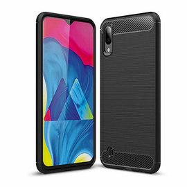 Ntech Ntech Soft Brushed Hoesje voor Samsung Galaxy A10/M10 -  Matt Zwart