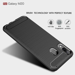 Ntech Ntech Rugged Armor Hoesje voor Samsung Galaxy M20 -  Matt Zwart