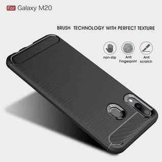 Ntech Ntech Soft Brushed Hoesje voor Samsung Galaxy M20 -  Matt Zwart