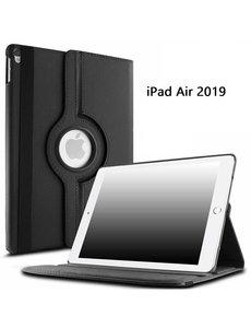 Ntech Ntech Apple iPad Air (2019) 10.5 Draaibare Hoes - Zwart