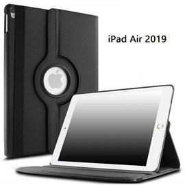 Ntech Ntech Apple iPad Air 10.5 (2019) Draaibaar Hoesje 360 Rotating Multi stand Case - Zwart
