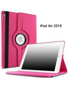 Ntech Ntech Apple iPad Air (2019) 10.5 Draaibare Hoes - Pink