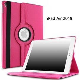Ntech Ntech Apple iPad Air 10.5 (2019) Draaibaar Hoesje 360 Rotating Multi stand Case - Pink/Roze