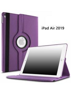 Ntech Ntech Apple iPad Air (2019) 10.5 Draaibare Hoes - Paars