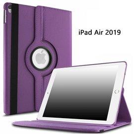 Ntech Ntech Apple iPad Air 10.5 (2019) Draaibaar Hoesje 360 Rotating Multi stand Case - Paars