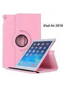 Ntech Ntech Apple iPad Air (2019) 10.5 Draaibare Hoes - Licht Roze