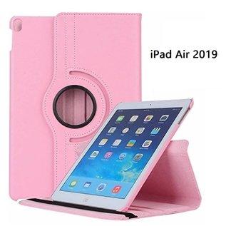 Ntech Ntech Apple iPad Air 10.5 (2019) Draaibaar Hoesje 360 Rotating Multi stand Case - Licht Roze