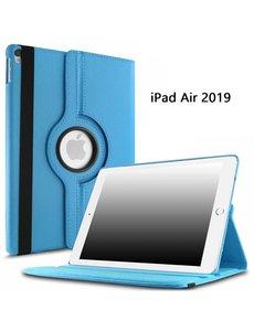 Ntech Ntech Apple iPad Air (2019) 10.5 Draaibare Hoes - Licht Blauw
