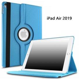 Ntech Ntech Apple iPad Air 10.5 (2019) Draaibaar Hoesje 360 Rotating Multi stand Case - Licht Blauw