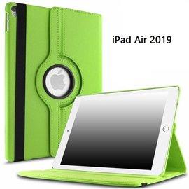 Ntech Ntech Apple iPad Air 10.5 (2019) Draaibaar Hoesje 360 Rotating Multi stand Case - Groen