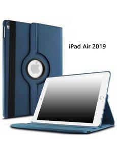 Ntech Ntech Apple iPad Air (2019) 10.5 Draaibare Hoes - Donker Blauw