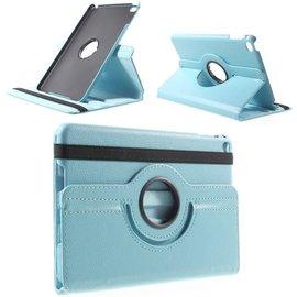 Ntech Ntech Apple iPad Mini 2019 Draaibaar Hoesje 360 Rotating Multi stand Case - Licht Blauw