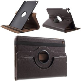 Ntech Ntech Apple iPad Mini 2019 Draaibaar Hoesje 360 Rotating Multi stand Case - Bruin