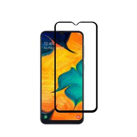Ntech Ntech Samsung Galaxy A50 full cover Screen Protector-9H HD clarity Hardness Tempered Glass - Zwart