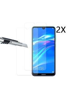 Ntech Ntech 2 Stuks Screenprotector Tempered Glass Glazen - Huawei Y7 (2019)