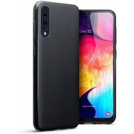 Ntech Ntech Hoesje Silicone Hoesje Flexible & Scratch Resistent TPU Case Samsung Galaxy A50 - Zwart