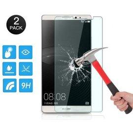 PaxxMobile Basixx Gratis 1+1 Screen Protector Glass Tempered Glass Doorzichtig 2 stuks voor Huawei Mate 8