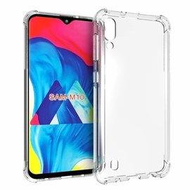 Ntech Ntech Samsung Galaxy A10 /M10 Transparent Anti Burst Hoesje / Shock Proof Crystal Clear TPU Case