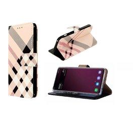 Ntech Ntech Print Design Boek Hoesje Met Pasjesruimte & Magneet flapje - Huawei P30 Lite