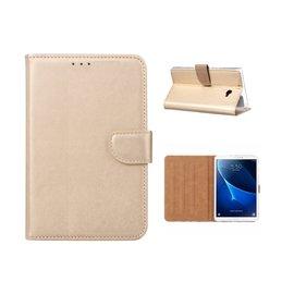 Ntech Ntech Samsung Galaxy Tab A 10.1 (2016) Booktype Kunstleer Hoesje Met Pasjesruimte - Goud