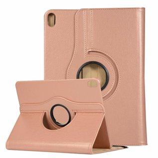 Ntech Ntech Apple iPad Air (2019) 10.5 Draaibare Hoes Multi stand - Roségoud