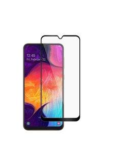 Ntech Ntech Samsung Galaxy A30 full cover Screenprotector Tempered Glass - Zwart