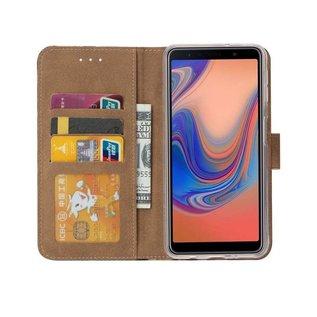 Ntech Ntech Luipaard Design Portemonnee Hoesje Met Pasjesruimte & Magneet flapje - Samsung Galaxy A30