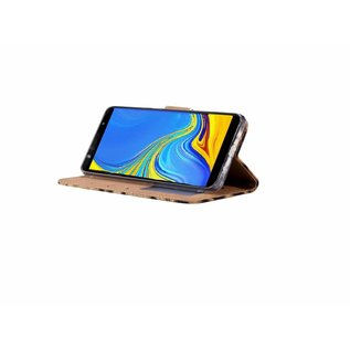 Ntech Ntech Smile Design Portemonnee Hoesje Met Pasjesruimte & Magneet flapje - Samsung Galaxy A30