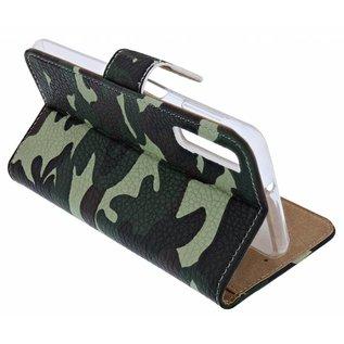 Ntech Ntech Camouflage Design Portemonnee Hoesje Met Pasjesruimte & Magneet flapje - Samsung Galaxy A30
