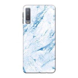 Ntech Ntech Huawei P30 Marmer Design Soft TPU Back Cover Hoesje - Blauw kleur