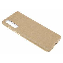 Ntech Ntech Samsung Galaxy A50 Glitter TPU Back Cover Hoesje - Goud