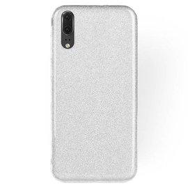 Ntech Ntech Samsung Galaxy A50 Glitter TPU Back Cover Hoesje - Zilver