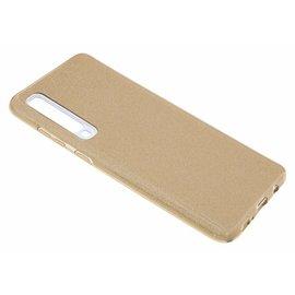 Ntech Ntech Samsung Galaxy A70 Glitter TPU Back Cover Hoesje - Goud
