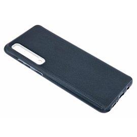 Ntech Ntech Samsung Galaxy A70 Glitter TPU Back Cover Hoesje - Zwart