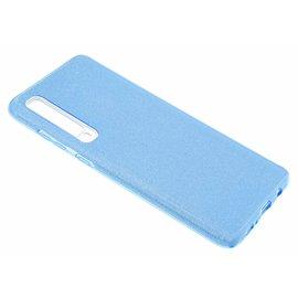 Ntech Ntech Samsung Galaxy A70 Glitter TPU Back Cover Hoesje - Blauw