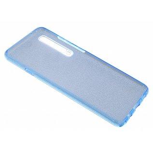 Ntech Ntech Huawei P30 Pro Glitter TPU Back Cover Hoesje - Blauw