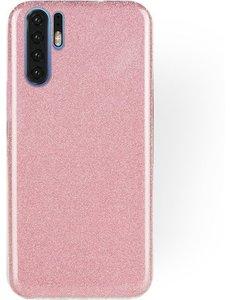 Ntech Ntech Huawei P30 Pro Glitter TPU backcover Hoesje - Roze
