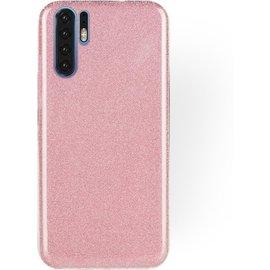 Ntech Ntech Huawei P30 Pro Glitter TPU Back Cover Hoesje - Roze