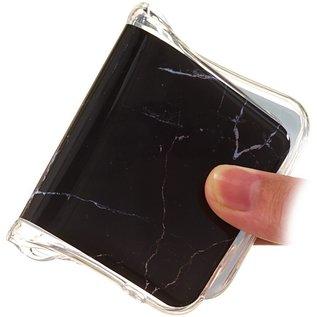 Ntech Ntech Samsung Galaxy A50 Marmer Design Soft TPU Back Cover Hoesje - Zwart kleur