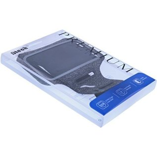 Ntech Ntech Sportarmband  Fabric/Stof met Sleuterhouder voor Samsung Galaxy A10/M10/M20 - Zwart/Grijs